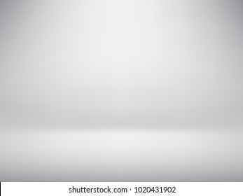 Vector grey abstract background empty room with spotlight. Graphic art design.