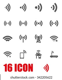Vector grey wireless icon set.