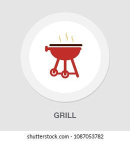 vector grill bbq menu icon? cooking meat - hot food steak symbol, picnic sign