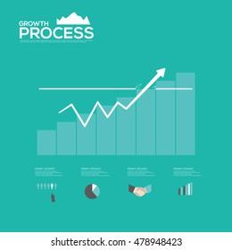 Vector growing process graph