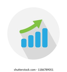 vector growth graph icon. chart illustration isolated