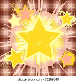 Vector grunge abstract background of explosion star.