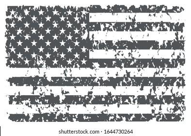 Vector grunge american flag background