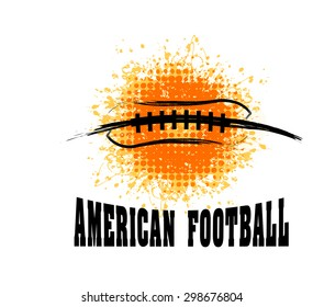 Vector Grunge American Football ( T-shirt, Poster, Banner, backdrops design )