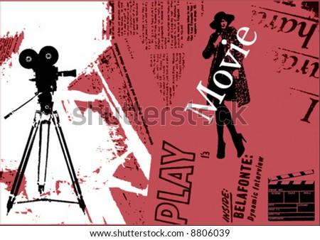 Grunge Camera Vector : Vector grunge background stock vector royalty free 8806039