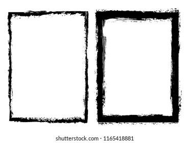 Vector grunge background.Grunge border frame for your design.