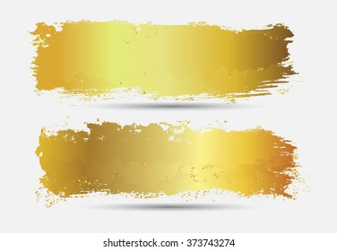 Vector grunge banners.Golden grunge backgrounds.
