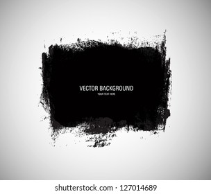 Vector grunge black paint abstract background