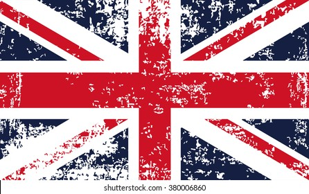 Vector grunge flag of great Britain. British flag icon. Eps 10
