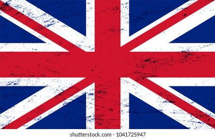 Vector grunge flag of the united kingdom background