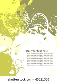 Vector Grunge Florel Abstract With Place For Text