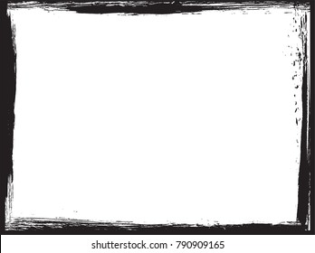 Vector Grunge Frame.Distress Background.