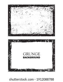 Vector grunge frame.Grunge background design.