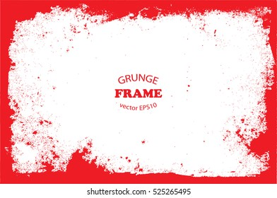 Vector grunge frame.Grungy background.