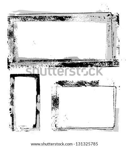 Vector Grunge Frames Separate Elements Easy Stock Vector (Royalty ...