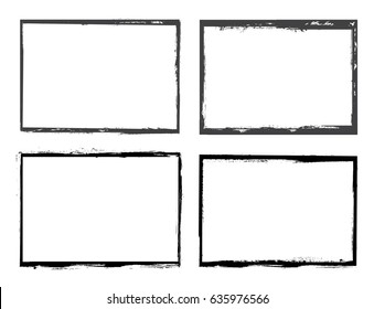 Vector grunge frames.Distress border frames.