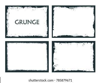 Vector grunge frames.Distress border frames.