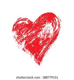 vector grunge heart, Valentine day, illustration vintage design element
