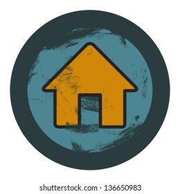 vector grunge house icon, graphic design element