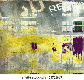 Vector grunge illustration, abstract color background