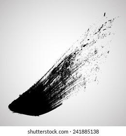 Vector Grunge  Line .Brush Stroke . Logo Design Template .