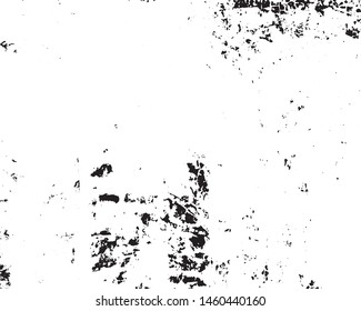 Vector grunge monochrome background. Black and white texture of chips, scratches, cracks. Surface scuffs.