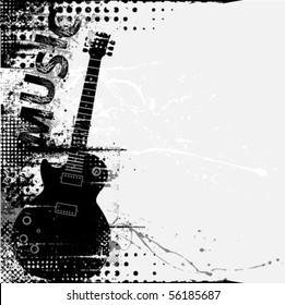 vector grunge music