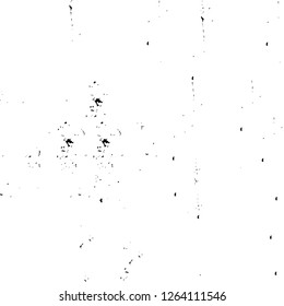 Vector grunge overlay texture. Black and white background. Abstract monochrome image includes a faded effect in dark tones