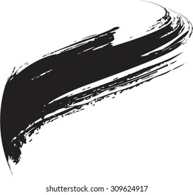 Vector Grunge Paint Brush . Curved Brush Stroke . Vector Logo Design Template . Twirl Grunge Shapes .