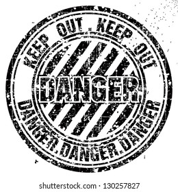 Vector grunge rubber stamp with Danger