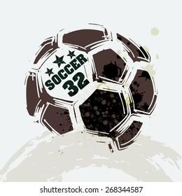 Vector Grunge Soccer Ball ( T-shirt, Poster, Banner, backdrops design )