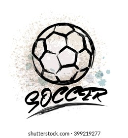 Vector Grunge Soccer design ( T-shirt, Poster, Banner, backdrops design )