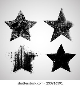 Vector Grunge Stars Collection .