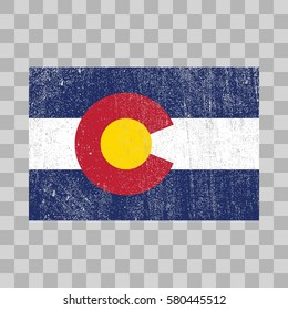 vector grunge styled flag of Colorado. State of the United States