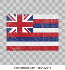 vector grunge styled flag of Hawaii. state of the USA