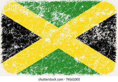 vector grunge styled flag of Jamaica