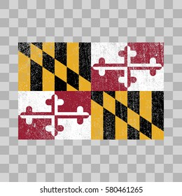 vector grunge styled flag of Maryland. State of the United States