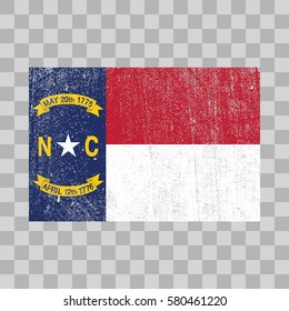 vector grunge styled flag of North Carolina. State of the United States