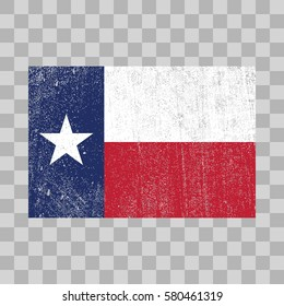 vector grunge styled flag of Texas. State of the United States
