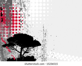 vector grunge tree