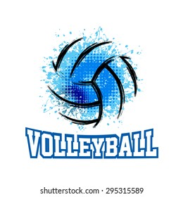 Vector Grunge Volleyball ( T-shirt, Poster, Banner, backdrops design )