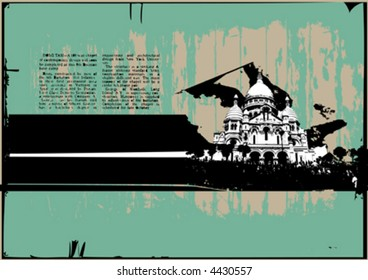 vector grungy post card design
