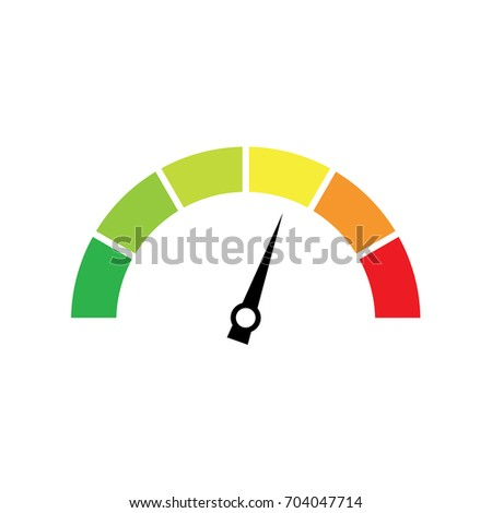 vector guage showing levels low high stock vector royalty free