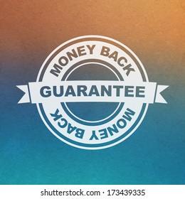 Vector guarantee sign. Money back.