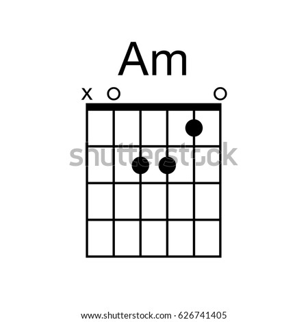 Vector Guitar Chord Am Minor Chord Stock Vector (Royalty Free ...