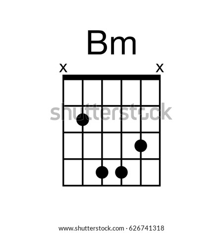 Vector Guitar Chord Bm B Minor Stock Vector Royalty Free 626741318
