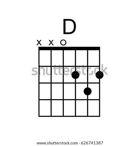 Vector Guitar Chord D Chord Diagram Stock Vector (Royalty Free ...