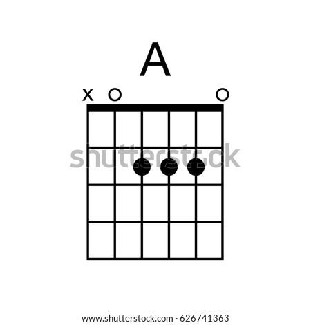 Vector Guitar Chord Chord Diagram Tab Stock Vector Royalty Free