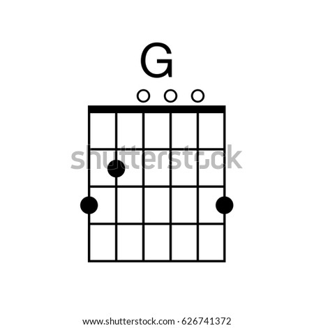 Vector Guitar Chord G Chord Diagram Stock Vector (Royalty Free ...