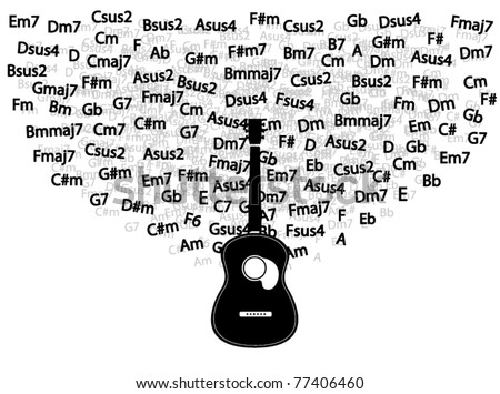 Vector Guitar Chords Around Stock Vector Royalty Free 77406460